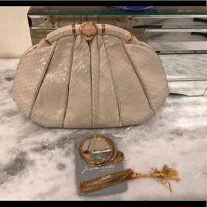 Authentic Judith Lieber snake skin bag